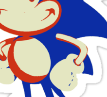 Minimalist Sonic 10 Sticker