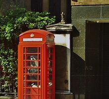 Red Telephone Box by clarebearhh