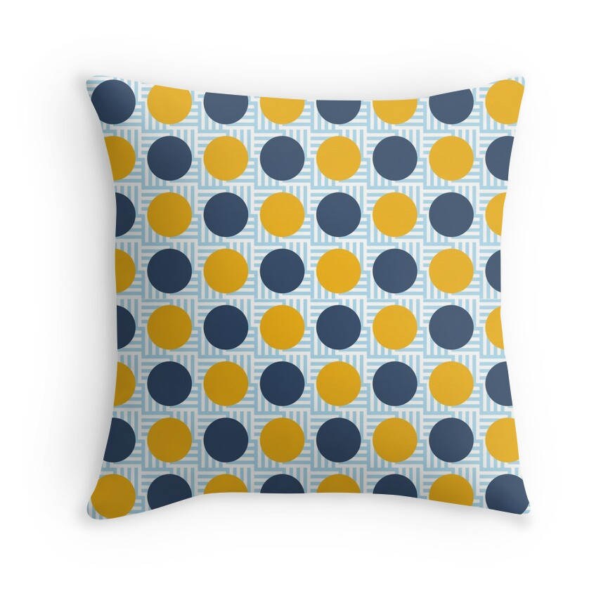 Throw Pillows Yellow And Blue :