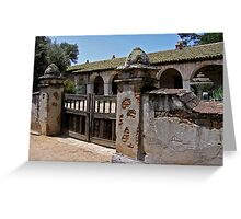 Mission San Miguel Arcangel Greeting Card