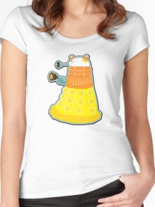 Candy Corn Dalek Women's Fitted Scoop T-Shirt