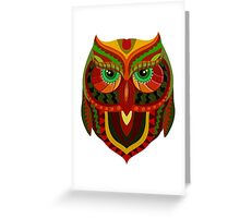 Awesome Owl Pattern 1 Greeting Card