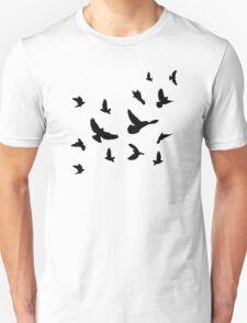 Black flying birds T-Shirt