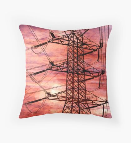 Keeping the lights on Throw Pillow