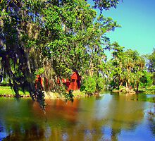 Just Another View Of The Parks Lagoon by Wanda Raines