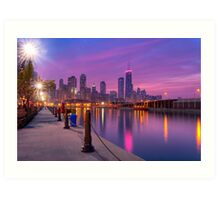 City Dreams - Chicago Skyline at Sunset Art Print
