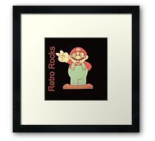 retro mario Framed Print