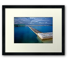 Blue Baths Framed Print