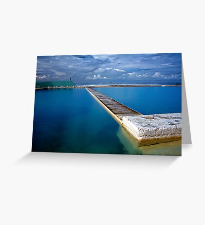 Blue Baths Greeting Card