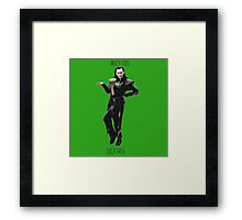 Much Loki, Such Sass Framed Print