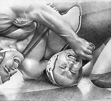 Lucas - Wrestling for Stanford 2009 by David J. Vanderpool