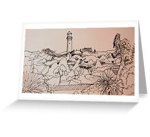 lighthouse sketch Greeting Card