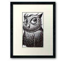 Owl O'brian Framed Print