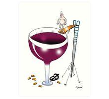 wine jumper Art Print