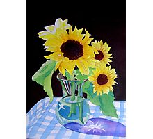 Sunflowers in a Vase Photographic Print