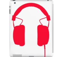 Red Headphones iPad Case/Skin