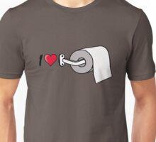 I heart love Toilet paper roll holder Unisex T-Shirt