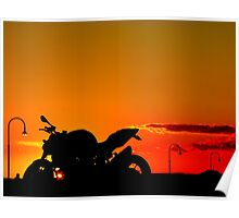 Streetfighter Sunset Poster