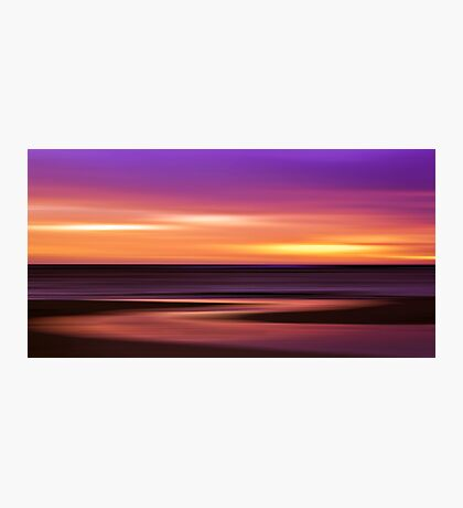 Slow Motion - abstract sunset Photographic Print