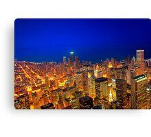 Golden Valleys - Chicago Skyline at Dusk Canvas Print