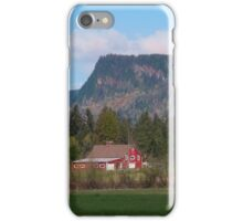 Red Barn and Mountain Range iPhone Case/Skin