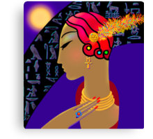 'Hollywood Nefertiti' Night on the Nile Canvas Print