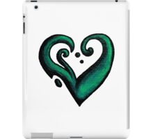 Heart / قلب (green) iPad Case/Skin
