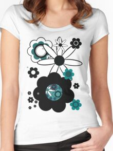 Retroflowers  Women's Fitted Scoop T-Shirt