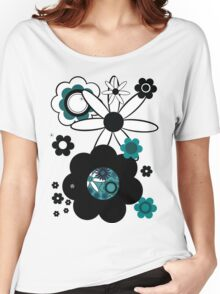 Retroflowers  Women's Relaxed Fit T-Shirt