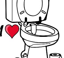 I love I heart toilet wc by SofiaYoushi