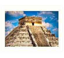 Kukulcan Temple - Main Pyramid at Chichen Itza Art Print