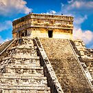 Kukulcan Temple - Main Pyramid at Chichen Itza by Mark Tisdale