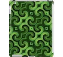 Green Spirals Pattern iPad Case/Skin