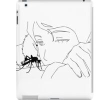 Anime girl looking at the insect mosquito  iPad Case/Skin