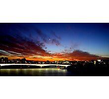 Sunset over Captain Cook Bridge, Brisbane Photographic Print
