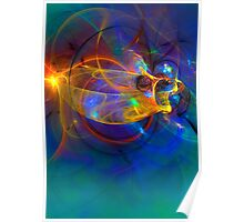 Goldfish opera Abstract Poster