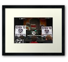 Stick To Your Guns Framed Print