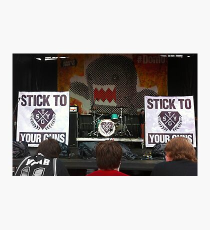 Stick To Your Guns Photographic Print