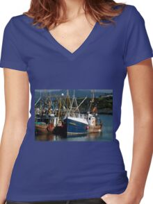 Stornoway Harbour Women's Fitted V-Neck T-Shirt