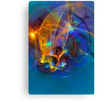 Jumping fish Sunset Canvas Print