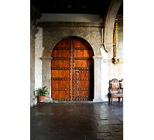 Wooden double doors Photographic Print