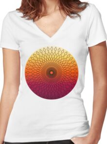 Diamond Sun Women's Fitted V-Neck T-Shirt