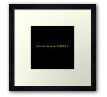 On This Day Framed Print