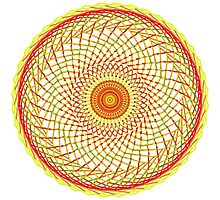 Orange Swirl Photographic Print