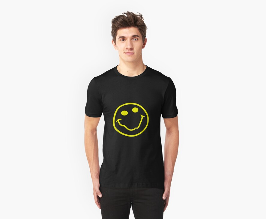 Nirvana style smiley face yellow by stansbury