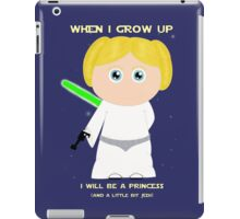 When I grow up, I will be a princess (and a little bit Jedi)  iPad Case/Skin