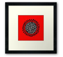 Seed head on red Framed Print