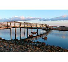 Ridgevale Beach Bridge Panorama (Chatham, Cape Cod) Photographic Print