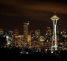 Seattle Night Lights by 2dvisionsphoto