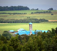 Farm in Charlevoix County, Quebec, Canada by Ralph Angelillo
